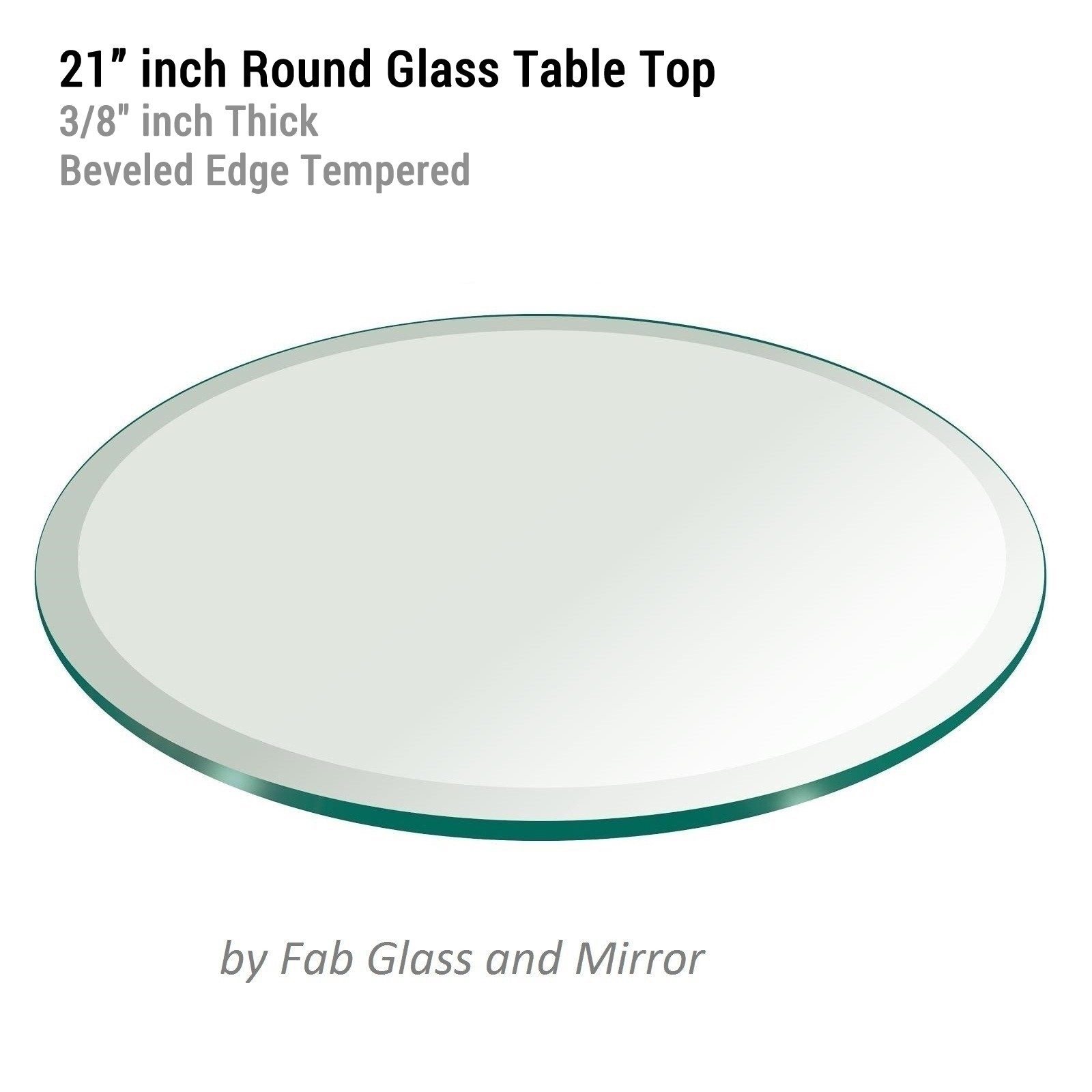 Glass Table Top 21 Inch Round 38 Inch Thick Beveled Edge Within Chamfered Edge Mirror (Image 10 of 15)