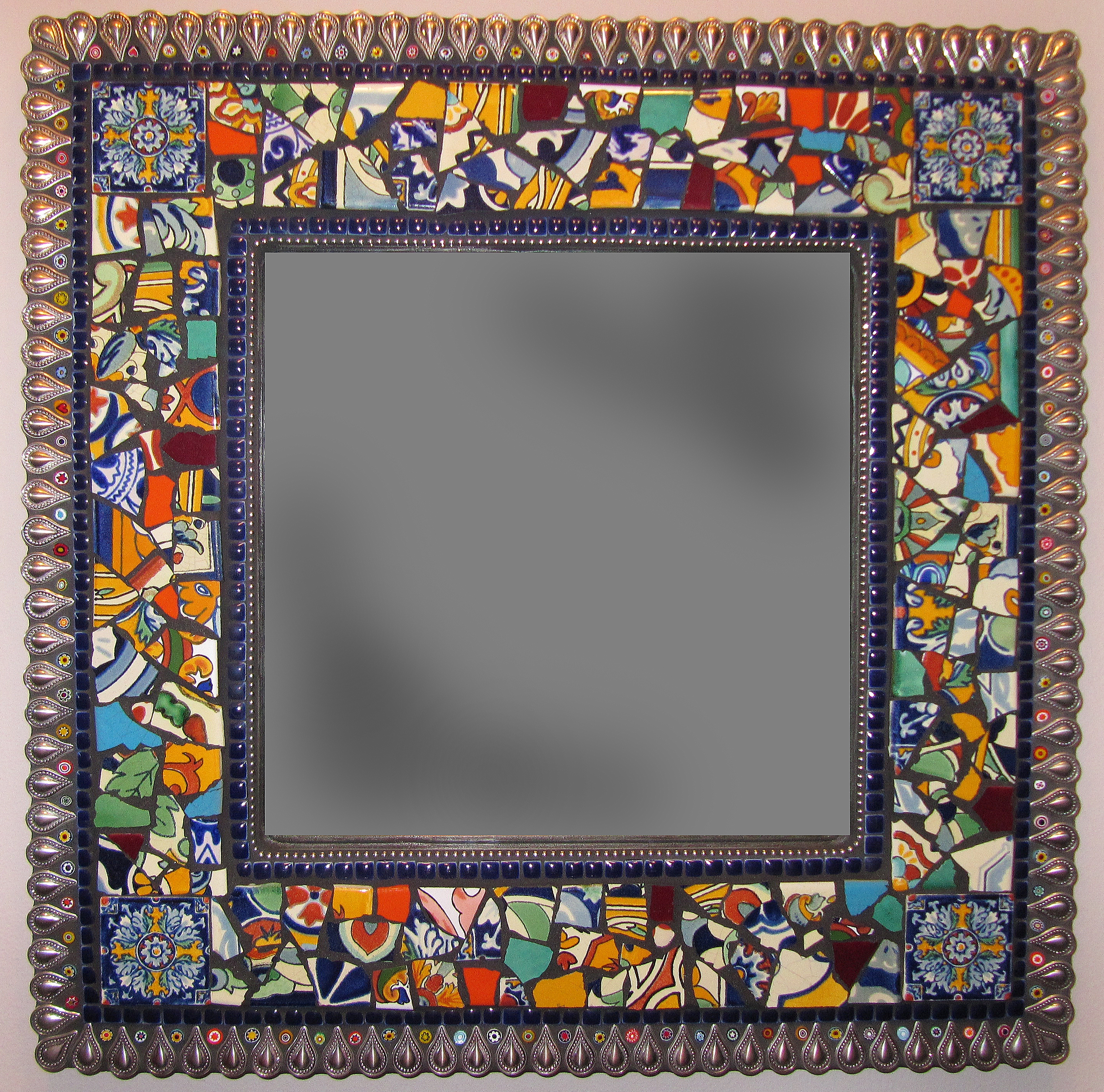 Glenmark Glass Mosaic News Rainforest Series Mosaic Mirrors Throughout Mosaic Mirrors For Sale (Image 4 of 15)