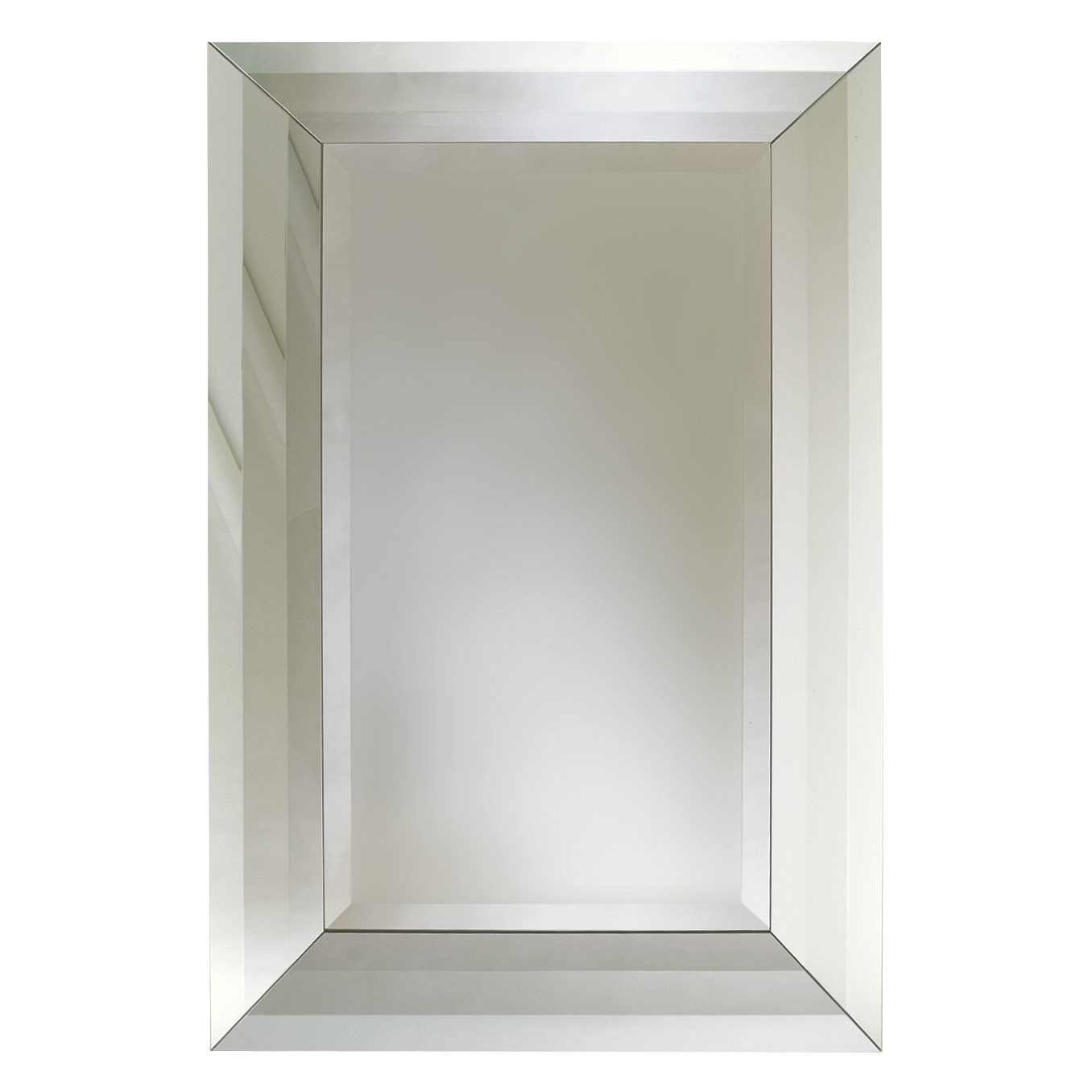 Global Views Adas Beveled Edge Mirror Large Regarding Chamfered Edge Mirror (Image 12 of 15)