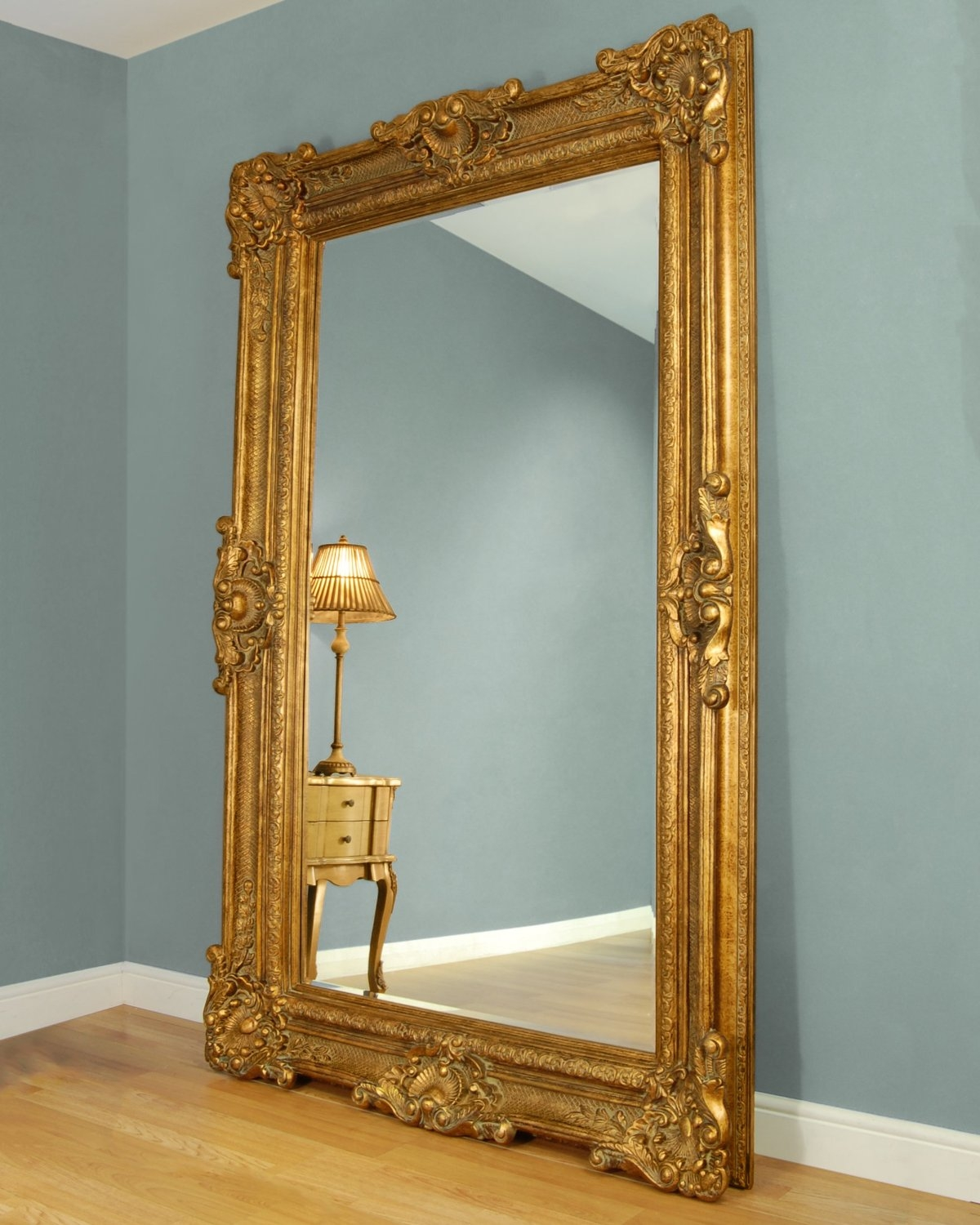 Gold Framed Mirror Imperial Gold Framed Mirror Max Size 20 X24 With Regard To Large Gold Ornate Mirror (Image 5 of 15)