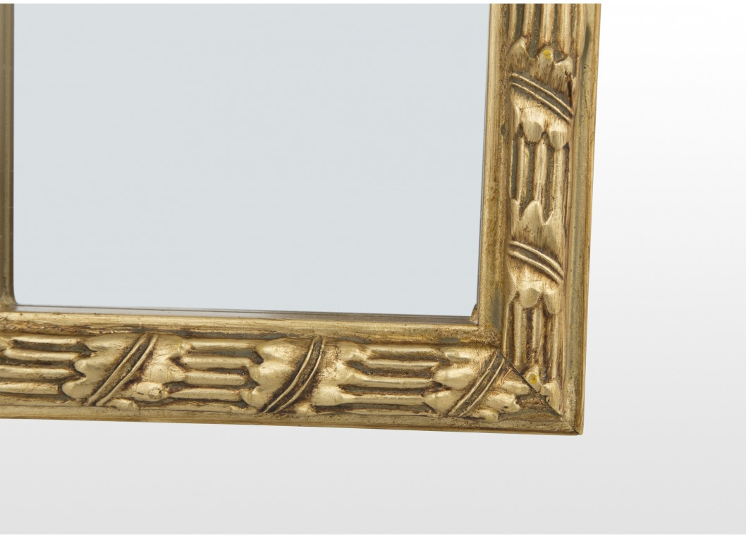 Gold Long Rectangular Wall Mirror Albert Pertaining To Long Gold Mirror (View 7 of 15)