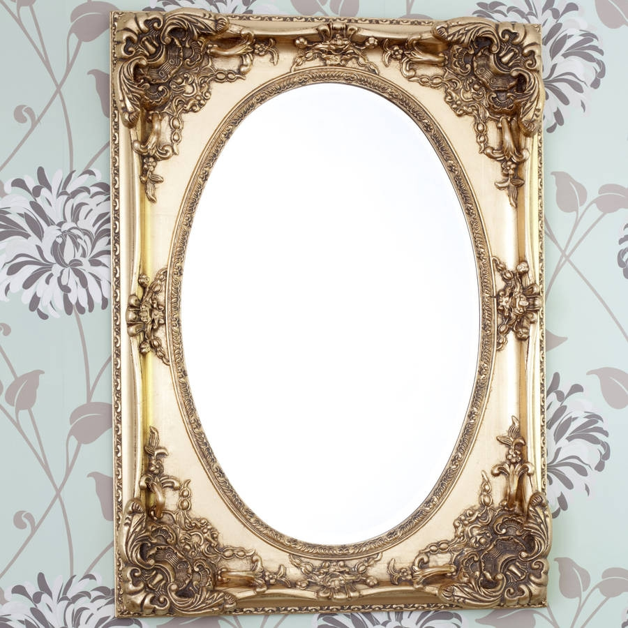 Gold Ornate Oval Mirror Decorative Mirrors Online With Regard To Gold Ornate Mirror (Image 3 of 15)
