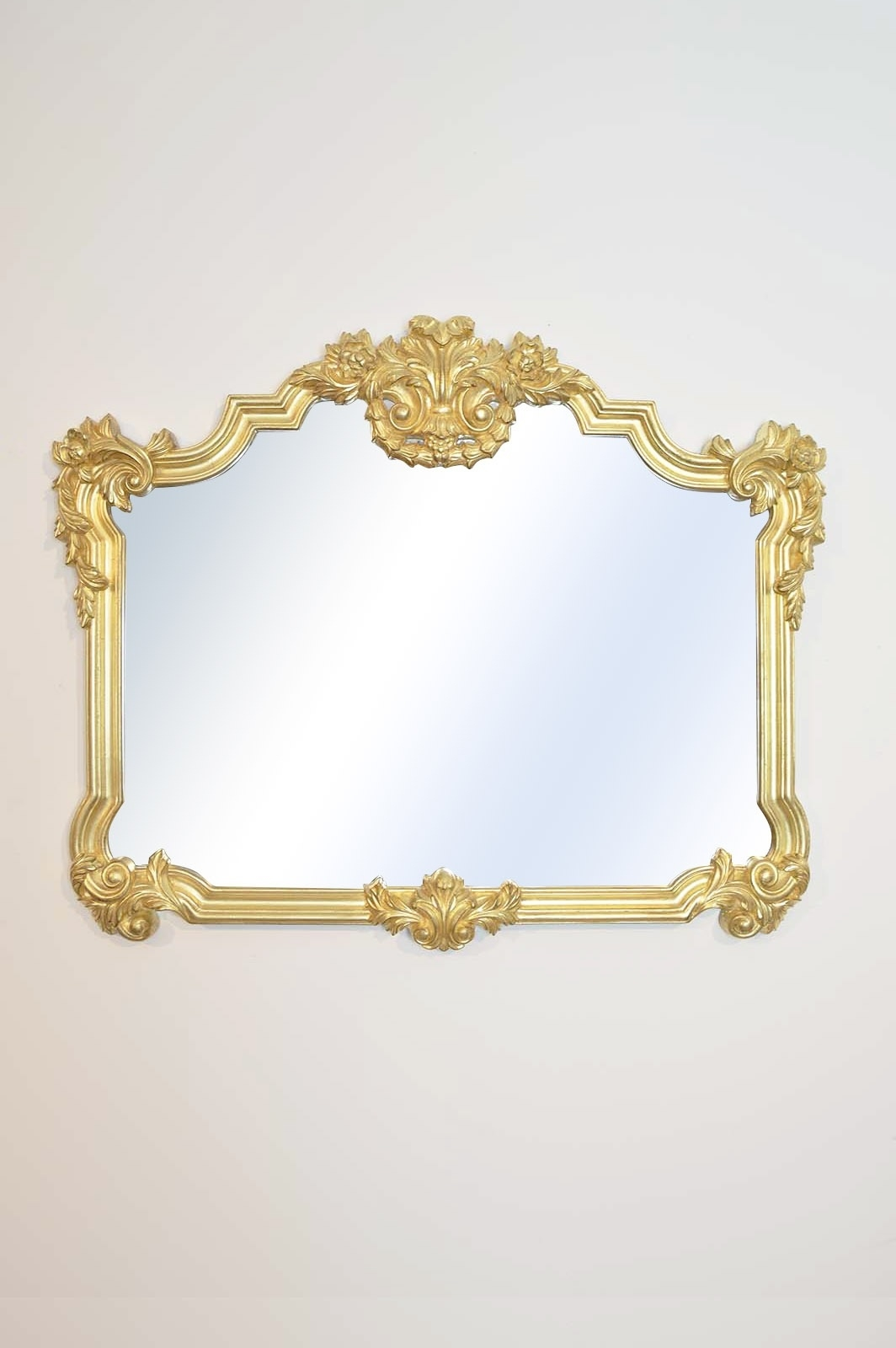 Gold Rococo Style Ornate Overmantle Mirror Lg120 Throughout Rococo Style Mirrors (Image 7 of 15)