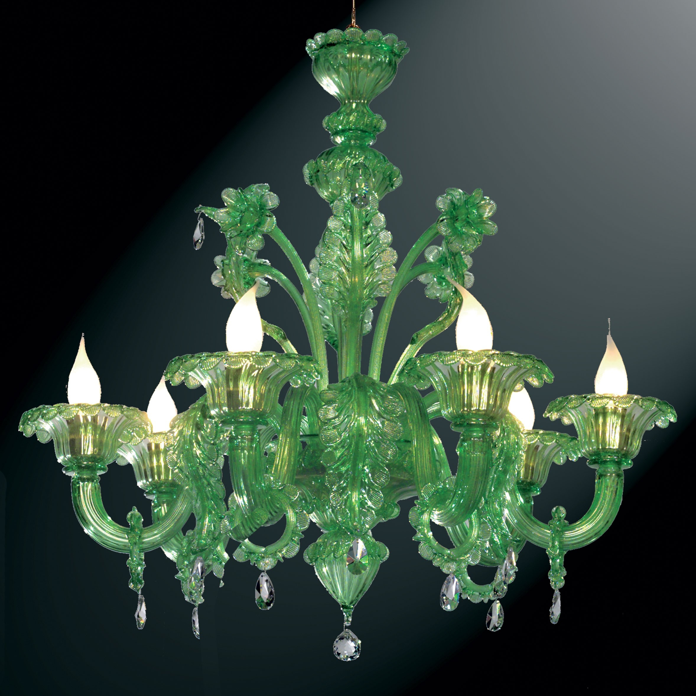 Goldoni Murano Glass Chandelier Murano Glass Chandeliers With Glass Chandeliers (Image 8 of 15)