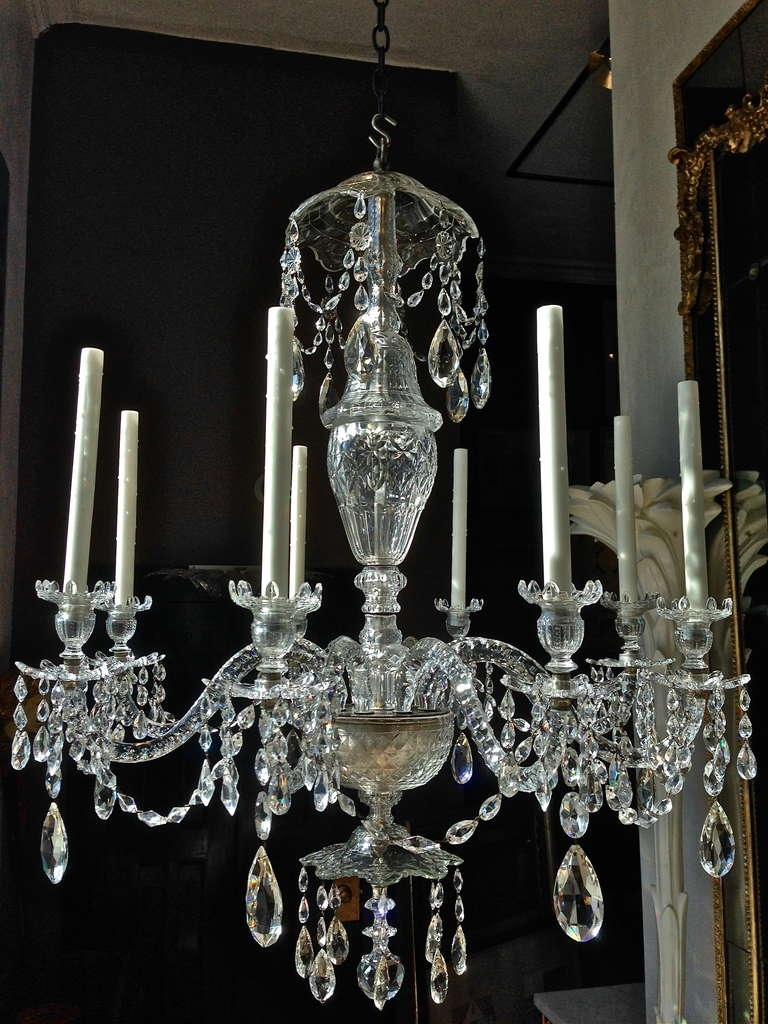 Good Early 19th Century English Georgian Crystal 8 Light In Georgian Chandeliers (Photo 8 of 15)