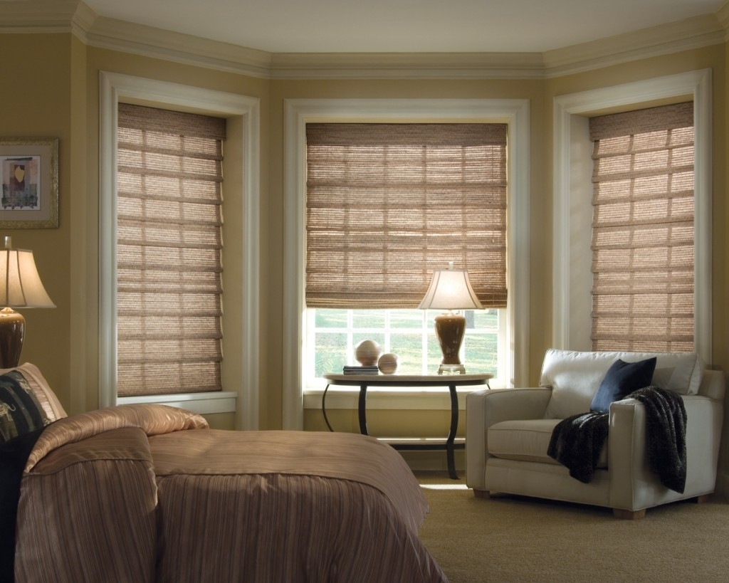 Gorgeous Bay Window Bedroom Ideas Bedroom Bay Window Treatment Inside Bay Window Blinds And Curtains (Image 11 of 15)