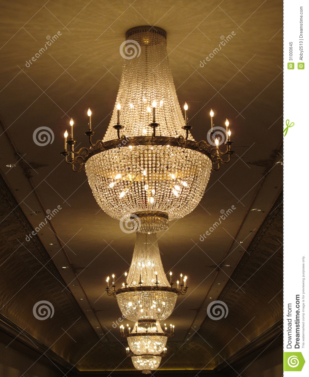 Gorgeous Crystal Chandelier Royalty Free Stock Photo Image 31000645 In Huge Crystal Chandeliers (View 8 of 15)