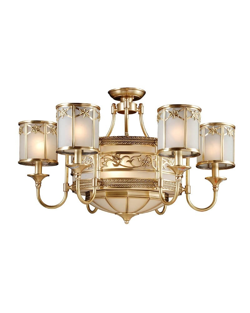 Gorgeous Modern Copper Chandelier With 8 Lights Parrotuncle Intended For Copper Chandelier (View 3 of 15)