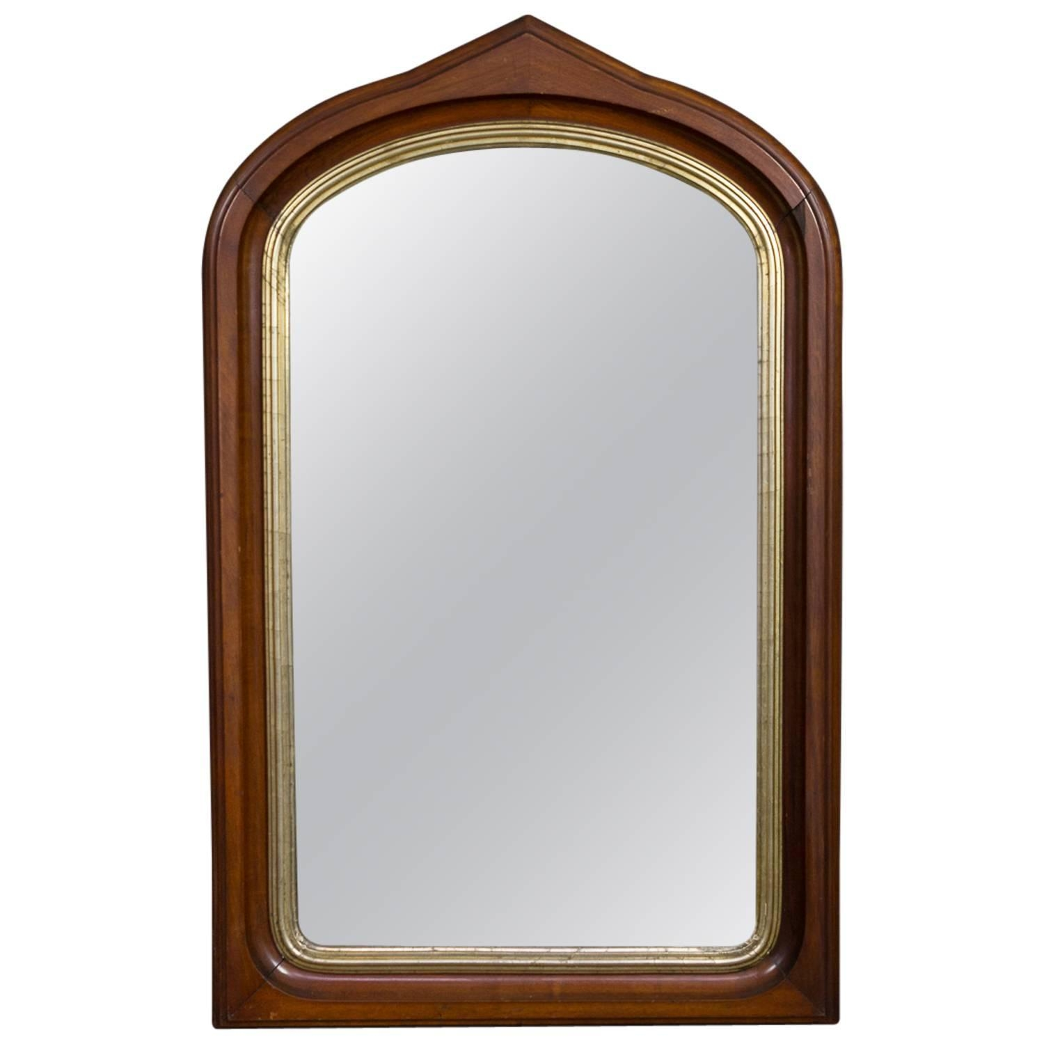 Gothic Revival Burl Wood Arched Wall Mirror At 1stdibs In Gothic Wall Mirror (Image 9 of 15)