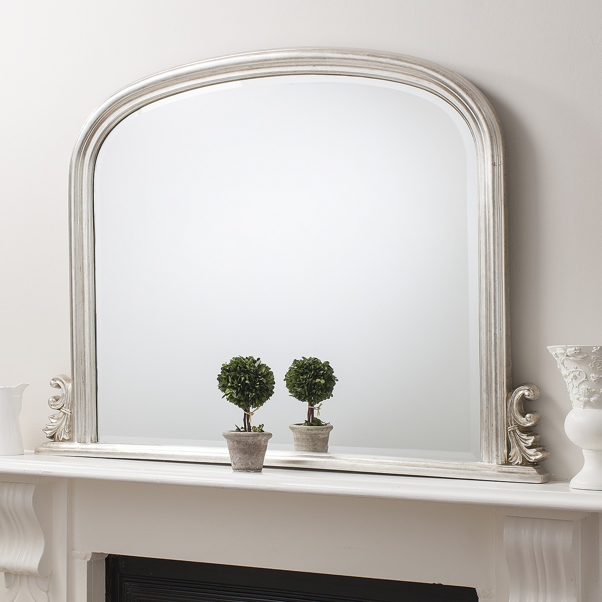 Grace Overmantle Mirror From 199 Luxury Overmantle Mirrors Pertaining To Over Mantel Mirror (Image 5 of 15)