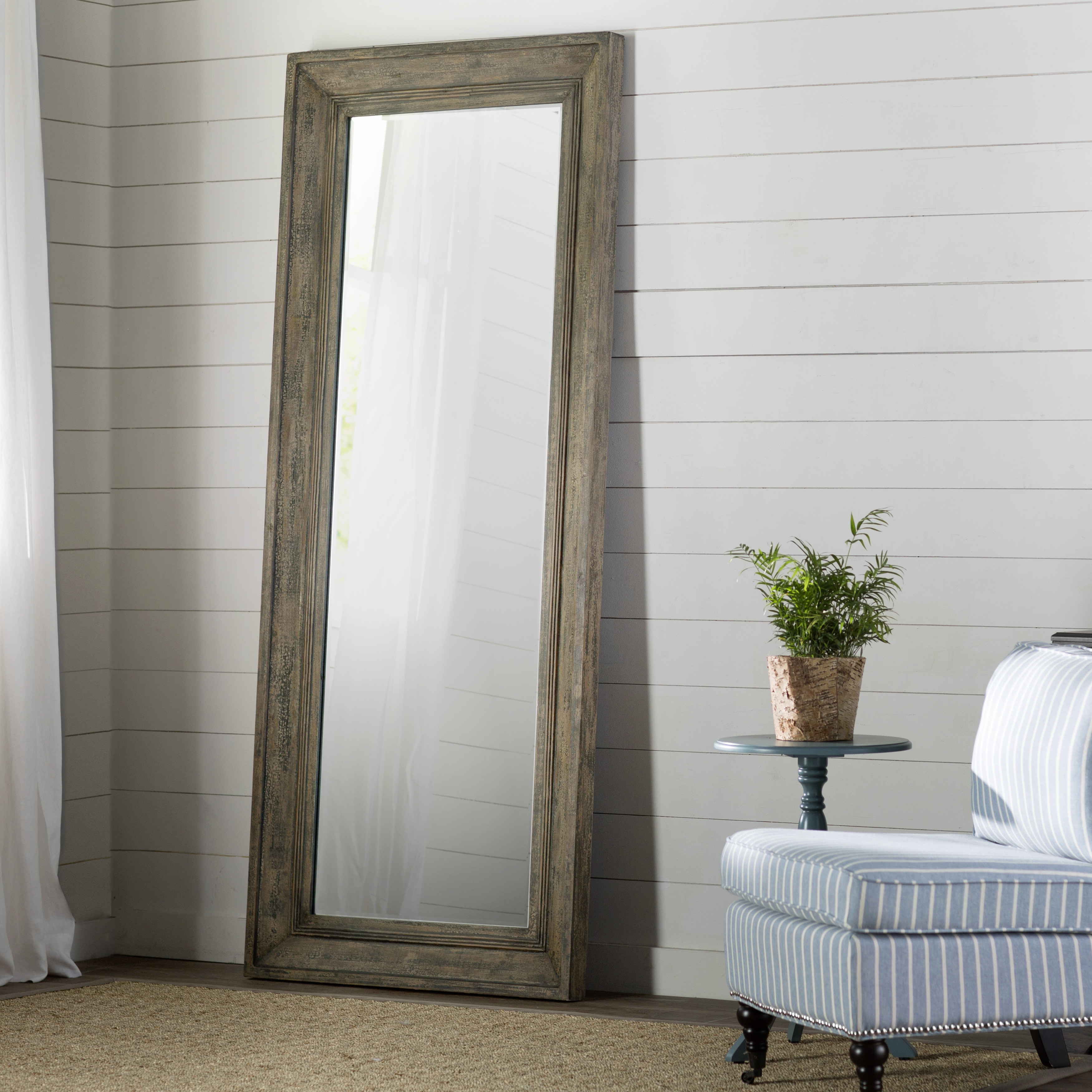 Graceful Home Furnishing For Living Room Combine Inspiring Large In Large White Floor Mirror (Image 9 of 15)