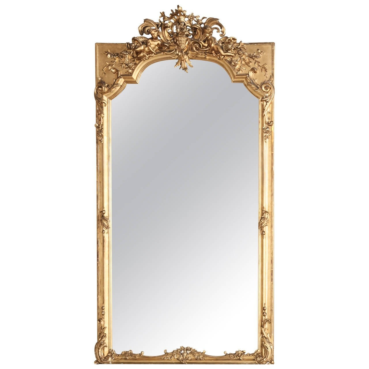 Grand 19th Century Napoleon Iii Period French Gilded Baroque With Regard To Baroque Mirror (Image 9 of 15)