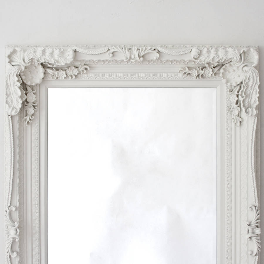 Grand Cream Full Length Dressing Mirror Decorative Mirrors Regarding Decorative Full Length Mirror (View 1 of 15)