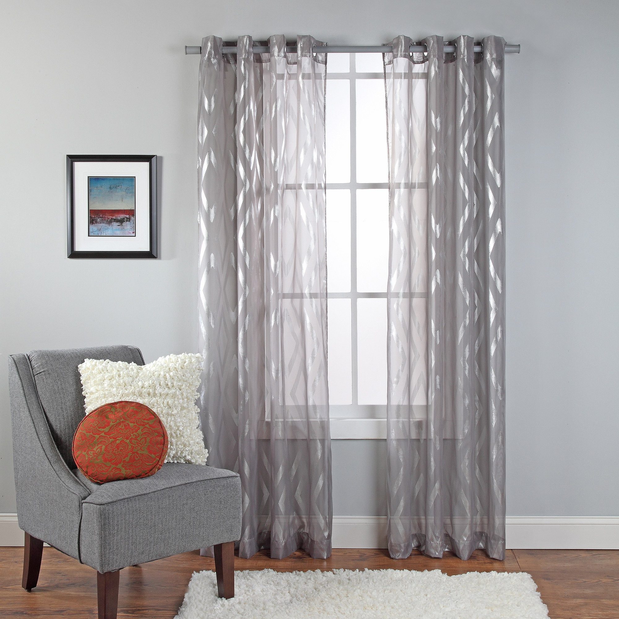 Gray Blackout Curtains Grommet Best Shades Home Depot Silver Grey Pertaining To Extended Length Curtains (Image 13 of 15)
