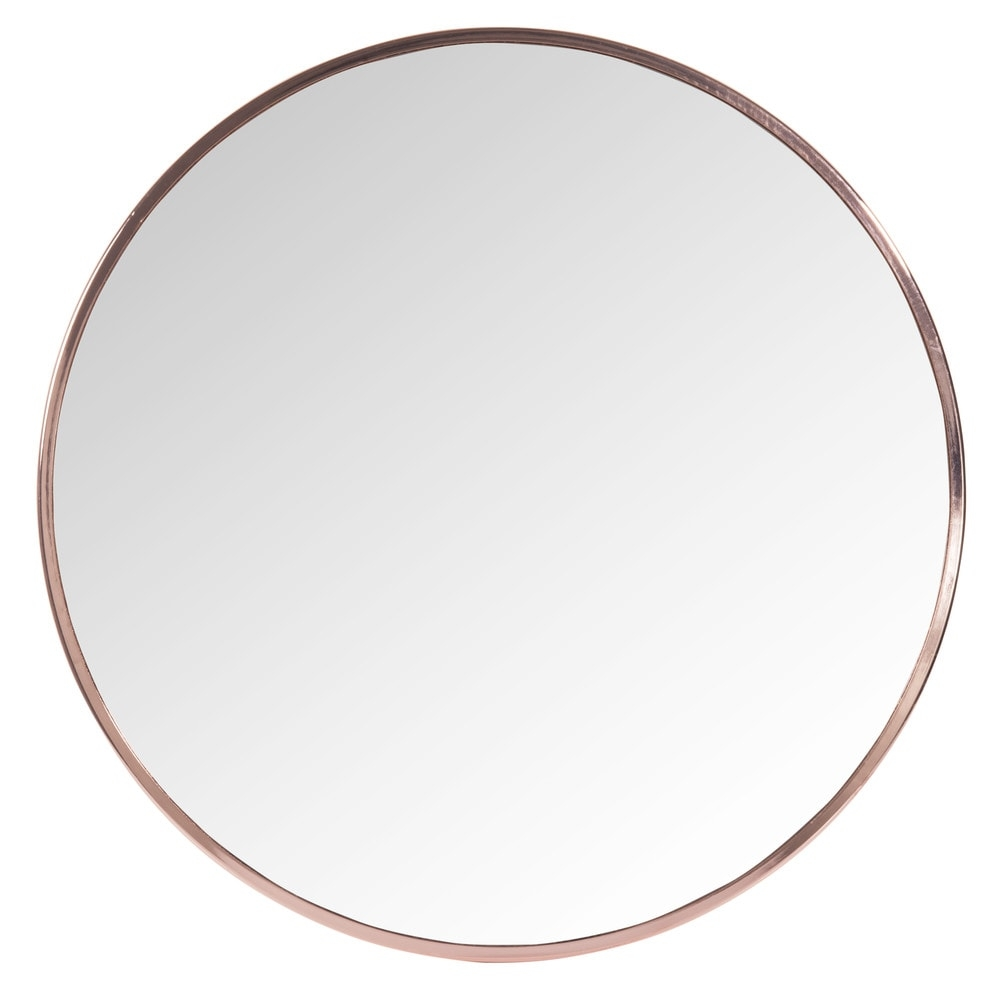 Grazzia Copper Metal Round Mirror D 50cm Maisons Du Monde With Large Round Metal Mirror (View 15 of 15)