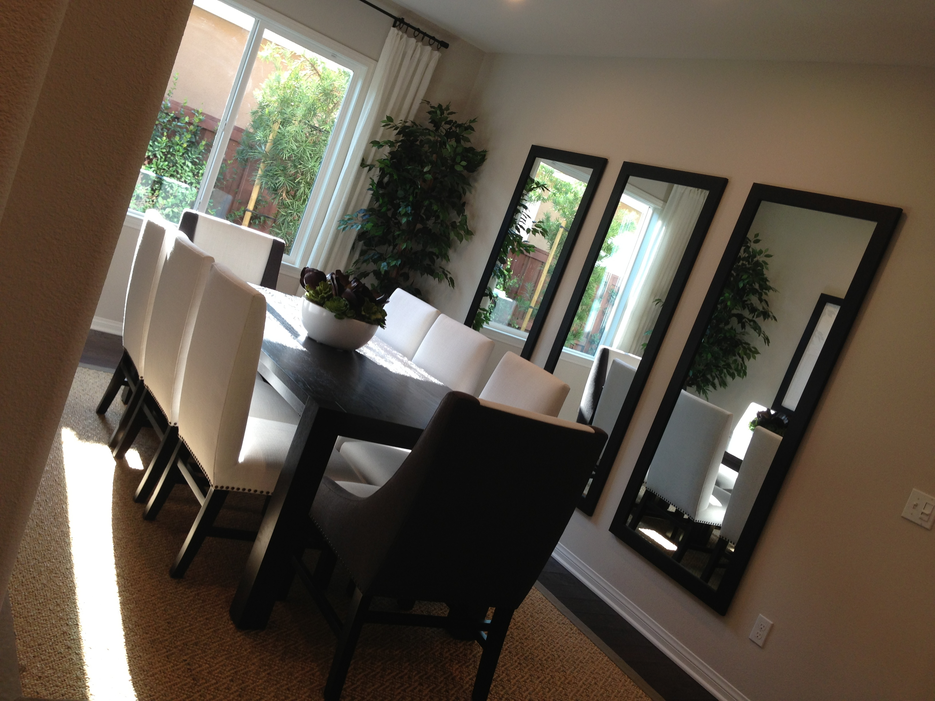 Great Idea Using Three Separate Mirrors I Want A Feature Wall With Feature Wall Mirrors (View 12 of 15)