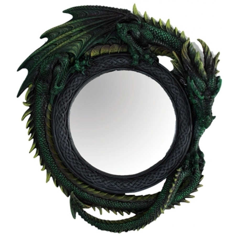 Green Dragon Wall Mirror With Gothic Wall Mirror (Image 12 of 15)