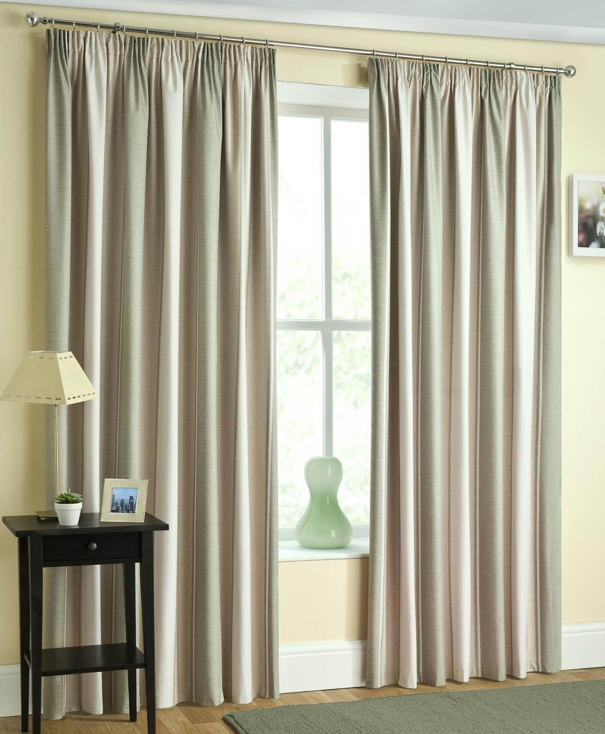 Featured Image of Green And Cream Striped Curtains