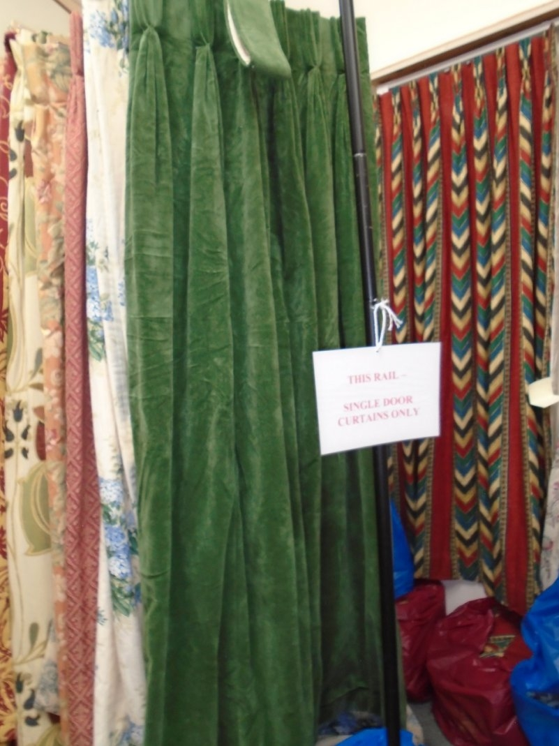 Green Velvet Door Curtain Lined Interlined Full Details For Velvet Door Curtain (Image 7 of 15)