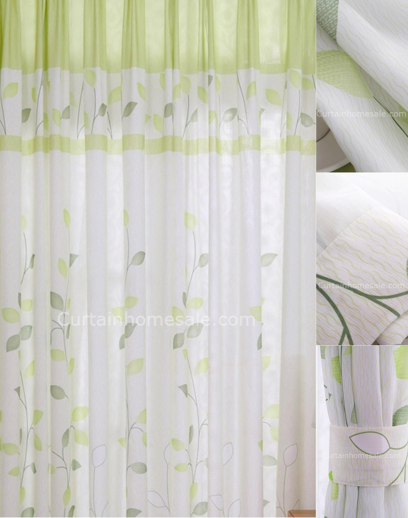 Grey And Green Curtains Decorating Rodanluo With Long Drop Curtains (View 14 of 15)
