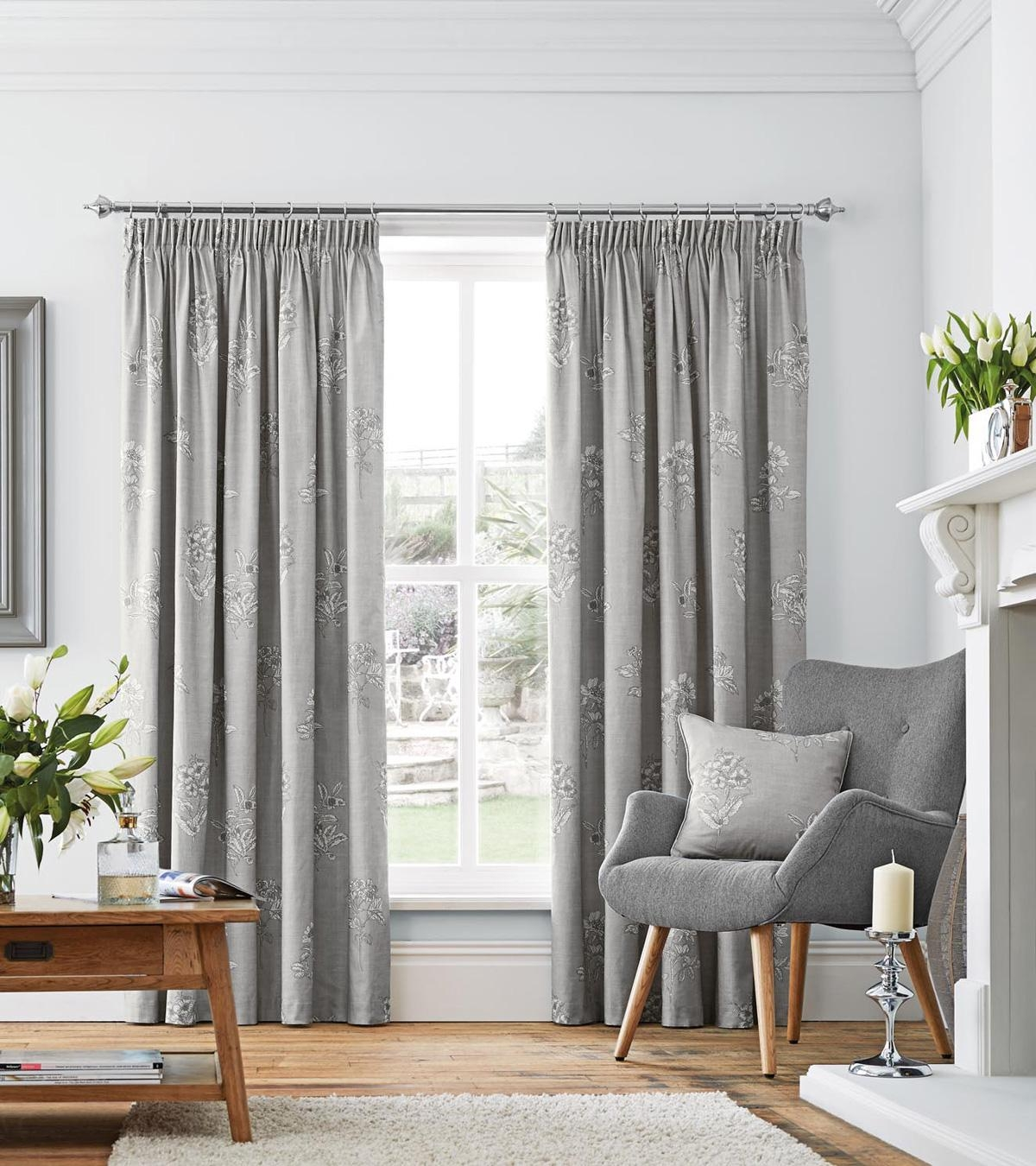 Grey Curtains Modern Curtains Terrys Fabrics With Regard To Thick Grey Curtains (Image 8 of 15)