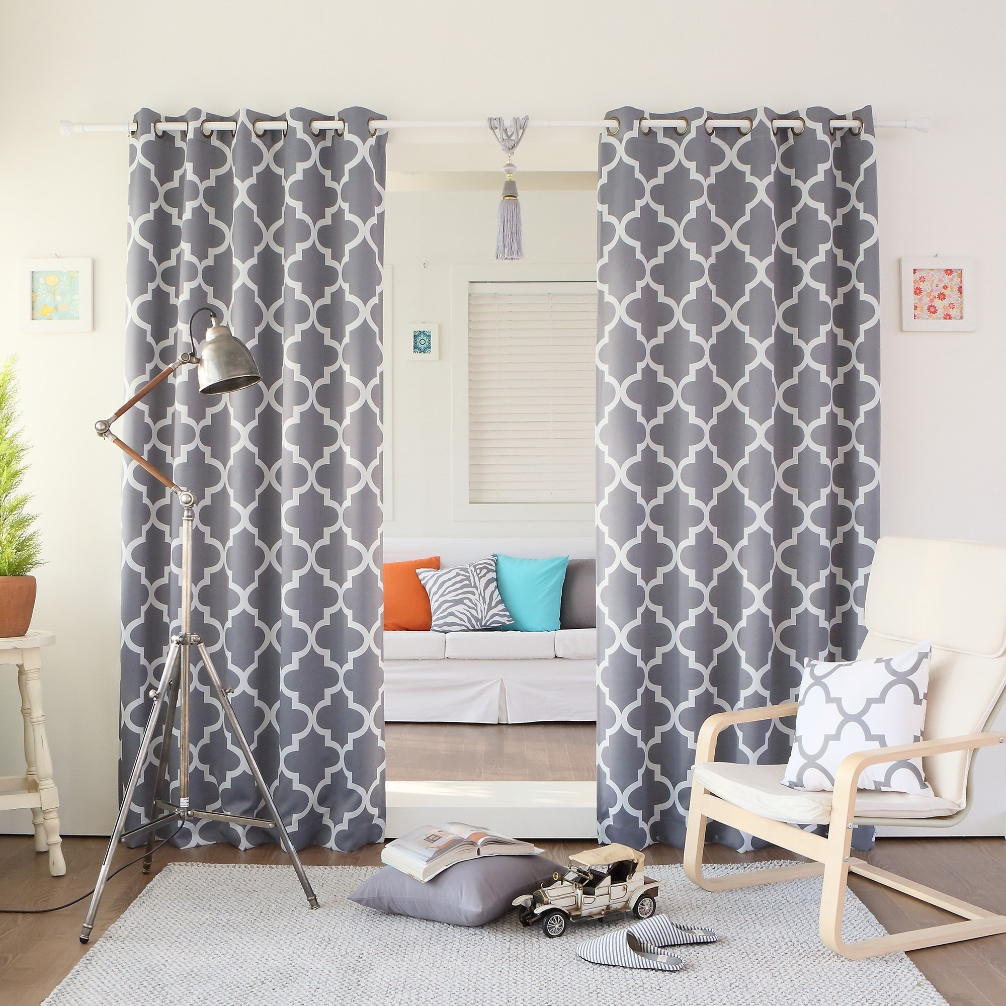 Grey Patterned Curtainstrxsuspensiontraining With Moroccan Pattern Curtains (Image 10 of 15)