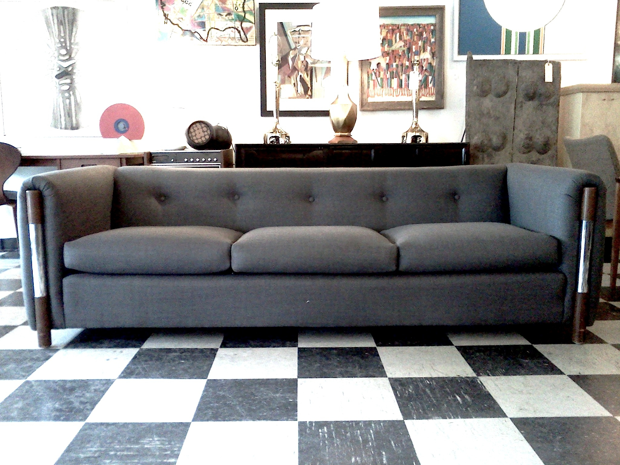 Grey Tufted Sofa Silver Grey Velvet Sofa Grey Couches Grey Velvet Within Affordable Tufted Sofa (View 6 of 15)