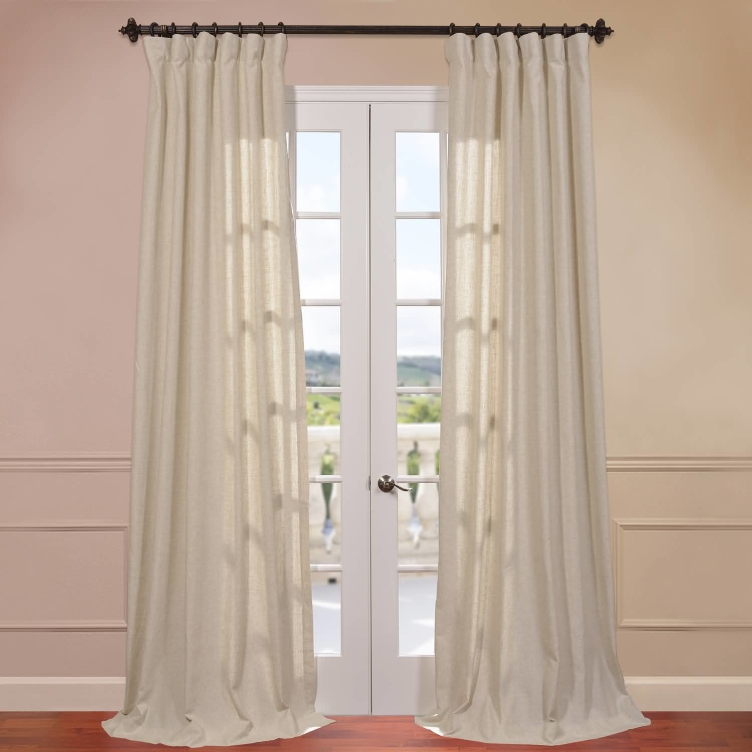 Half Price Drapes Hilo Natural Linen Solid Semi Sheer Rod Pocket With Natural Linen Drapes (View 12 of 15)