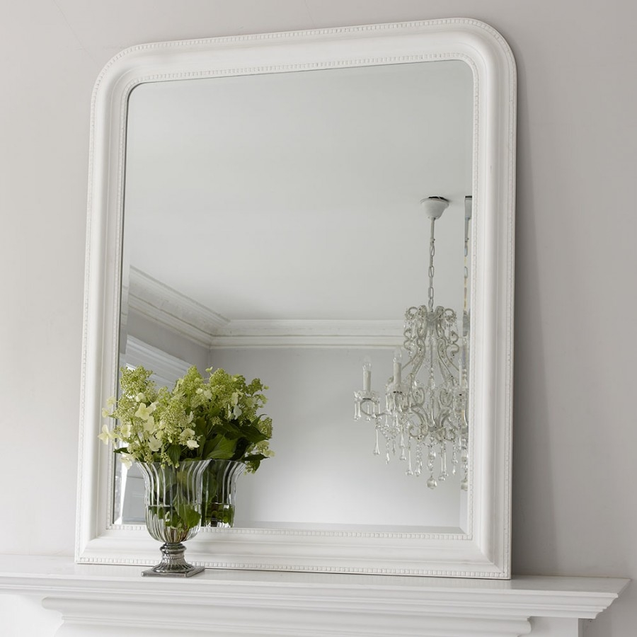 Hampshire Mirror White Large Brissi Inside White Arch Mirror (Image 8 of 15)