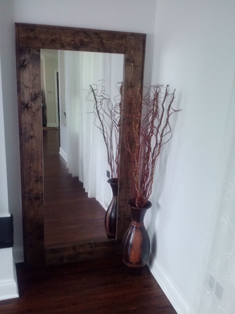 Hand Crafted Large Floor Mirror Reclaimed Wood Mirror Standing Intended For Big Floor Standing Mirrors (Image 11 of 15)