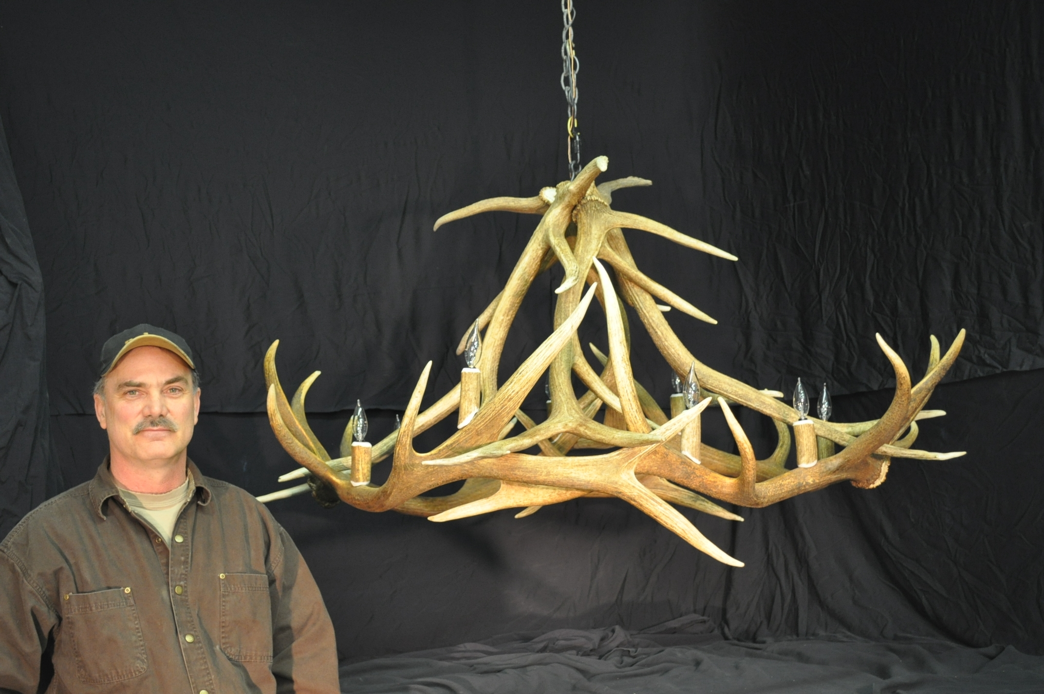 Hand Crafted Montana Antler Chandeliers Inside Antler Chandeliers And Lighting (Image 9 of 15)