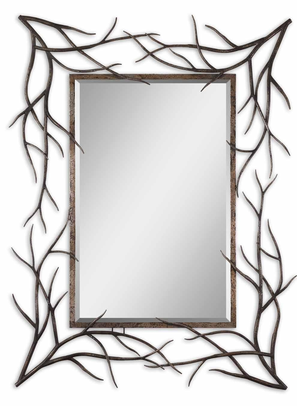 Hand Forged Mirror Frame Home Accents Mirrors All Mirrors Inside Ornamental Mirrors (Image 9 of 15)
