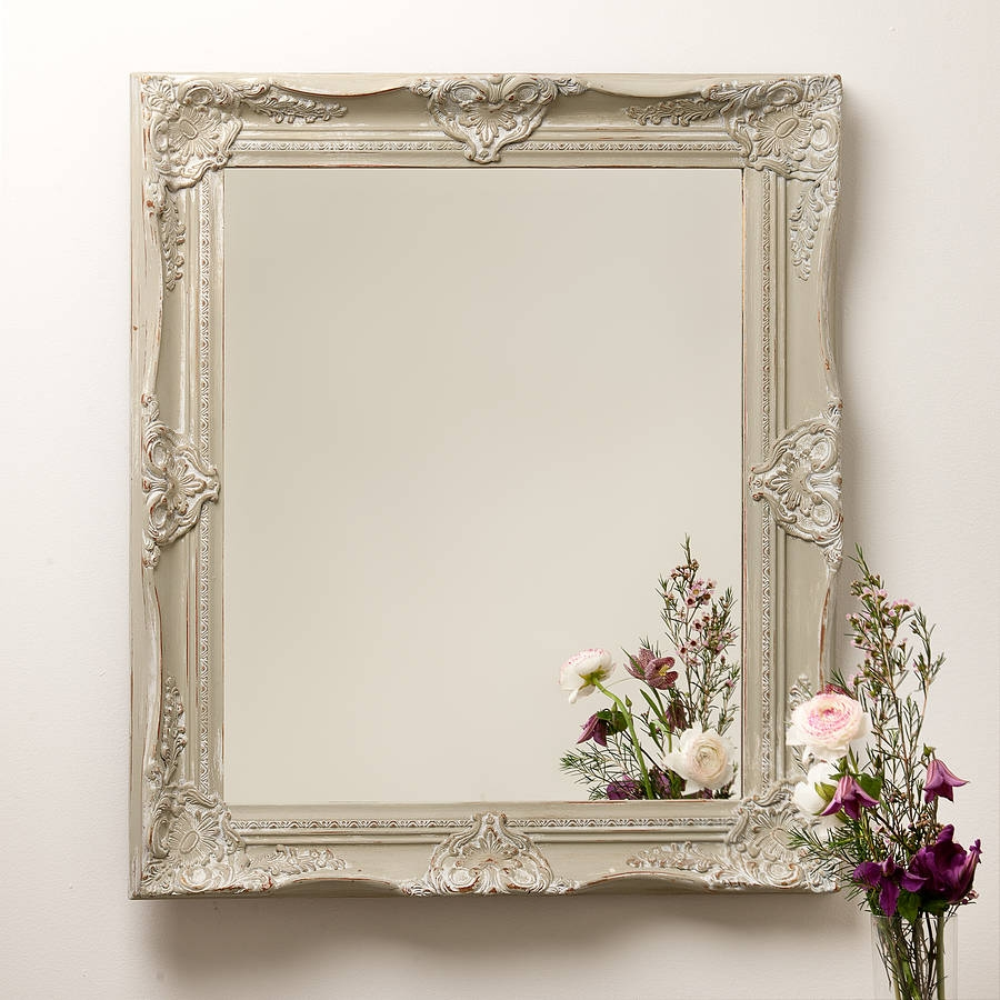 Hand Painted Ornate French Mirror Hand Crafted Mirrors With Regard To French Mirror (Image 13 of 15)