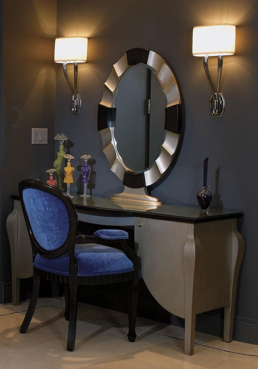 Handmade Dressing Table And Mirror Art Deco Tilde Design With Art Deco Mirrored Dressing Table (Image 13 of 15)