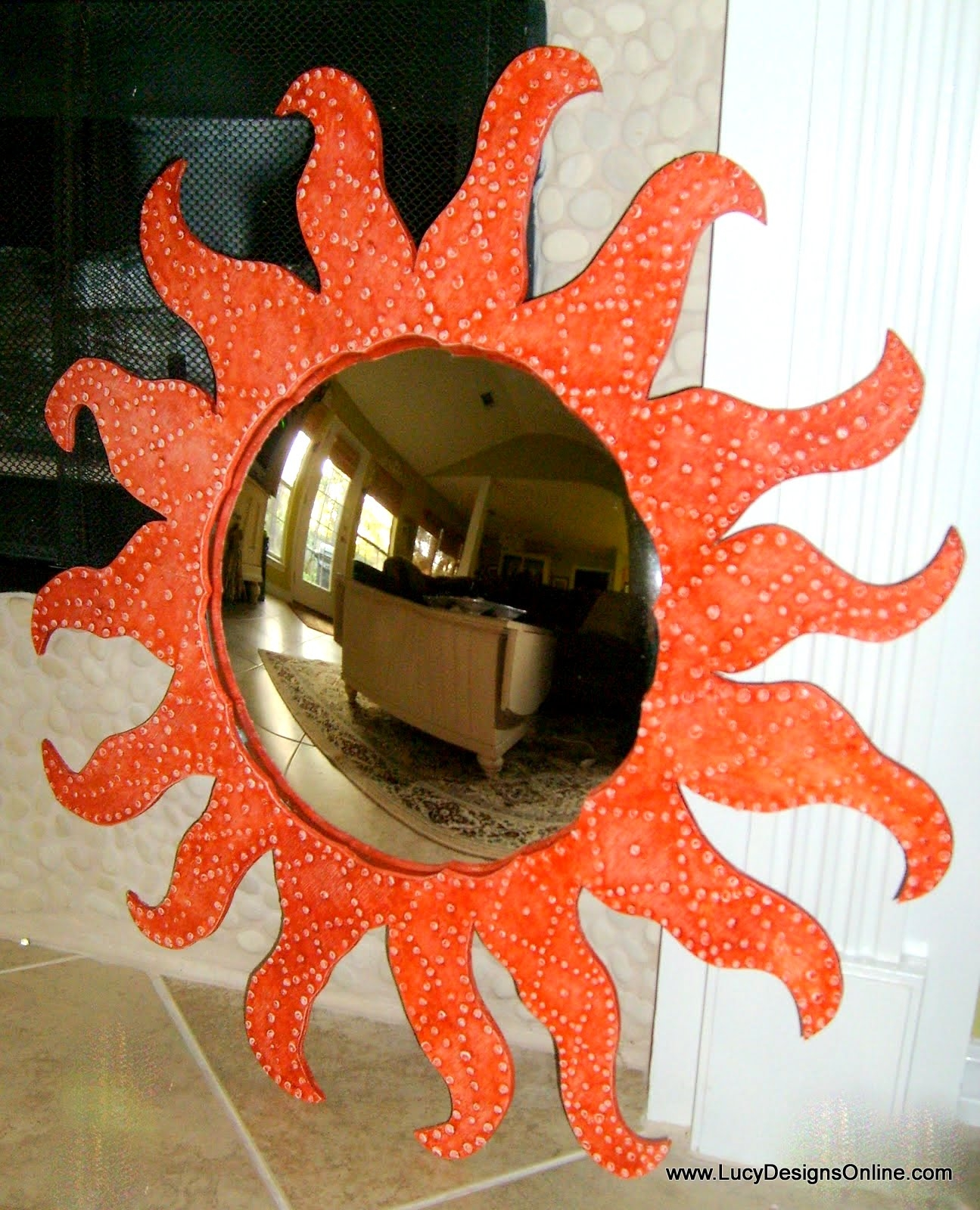 Featured Image of Large Sun Shaped Mirror