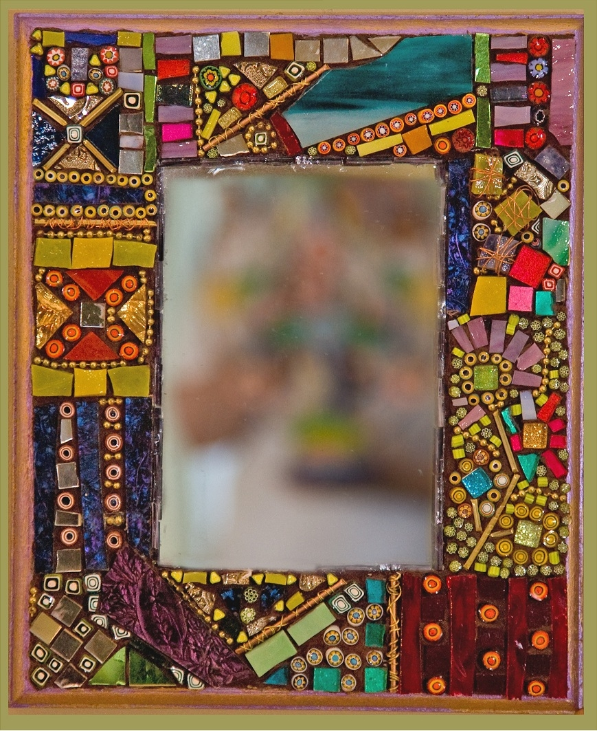 Handmade Mosaic And Dichroic Glass Art Gifts And Jewelry For Within Mosaic Mirrors For Sale (Image 7 of 15)
