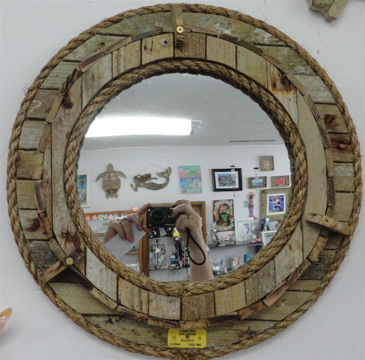 Handmade Porthole Mirror For Porthole Mirrors (Image 3 of 15)