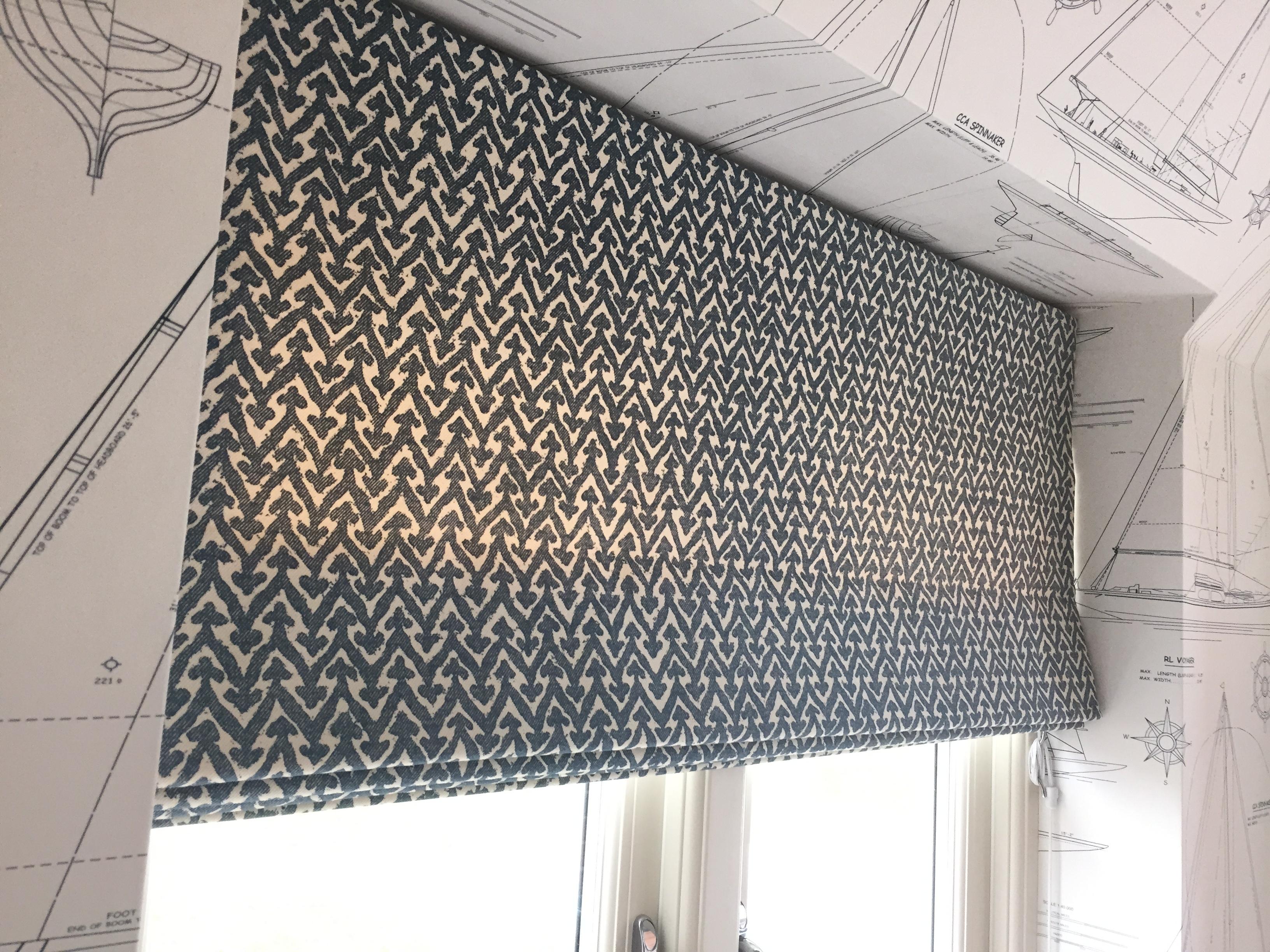 Handmade Roman Blind Victoria Clark Interiors Fabric Ian Inside Handmade Roman Blinds (View 11 of 15)