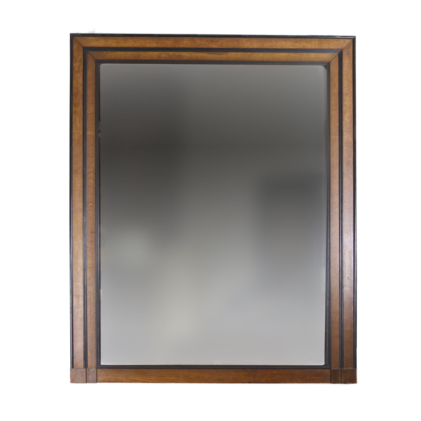 Handsome Large English Oak And Ebony Mirror Frame Circa 1840 For Large Oak Mirror (View 6 of 15)
