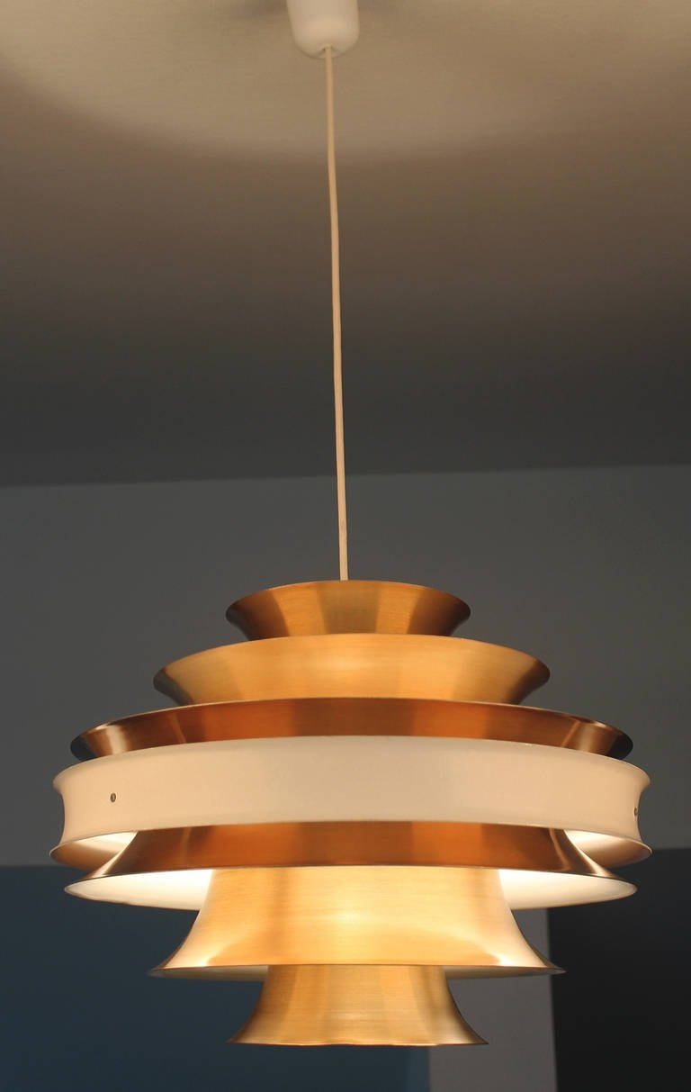 Hans Agne Jacobsson Copper Chandelier At 1stdibs With Copper Chandelier (Image 6 of 15)