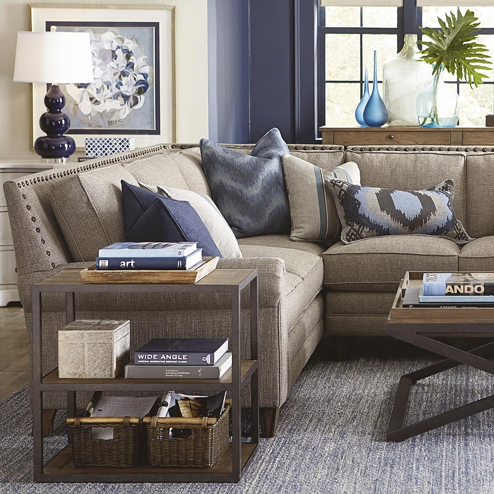 Harlan Large L Shaped Sectional Living Room Bassett Furniture With Bassett Sectional Sofa (Image 11 of 15)