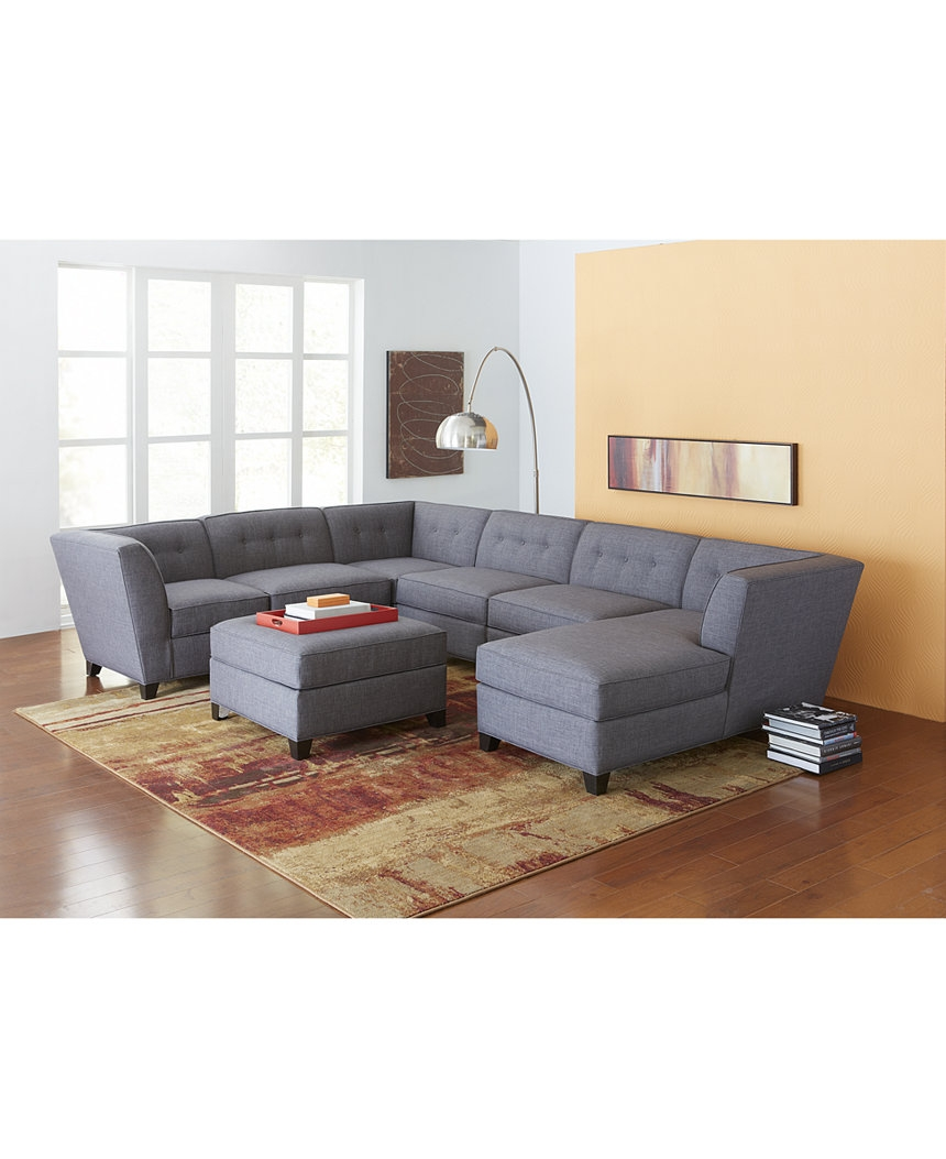 Harper Fabric 6 Piece Modular Sectional Sofa Modular Sectional With 6 Piece Modular Sectional Sofa (Image 7 of 15)