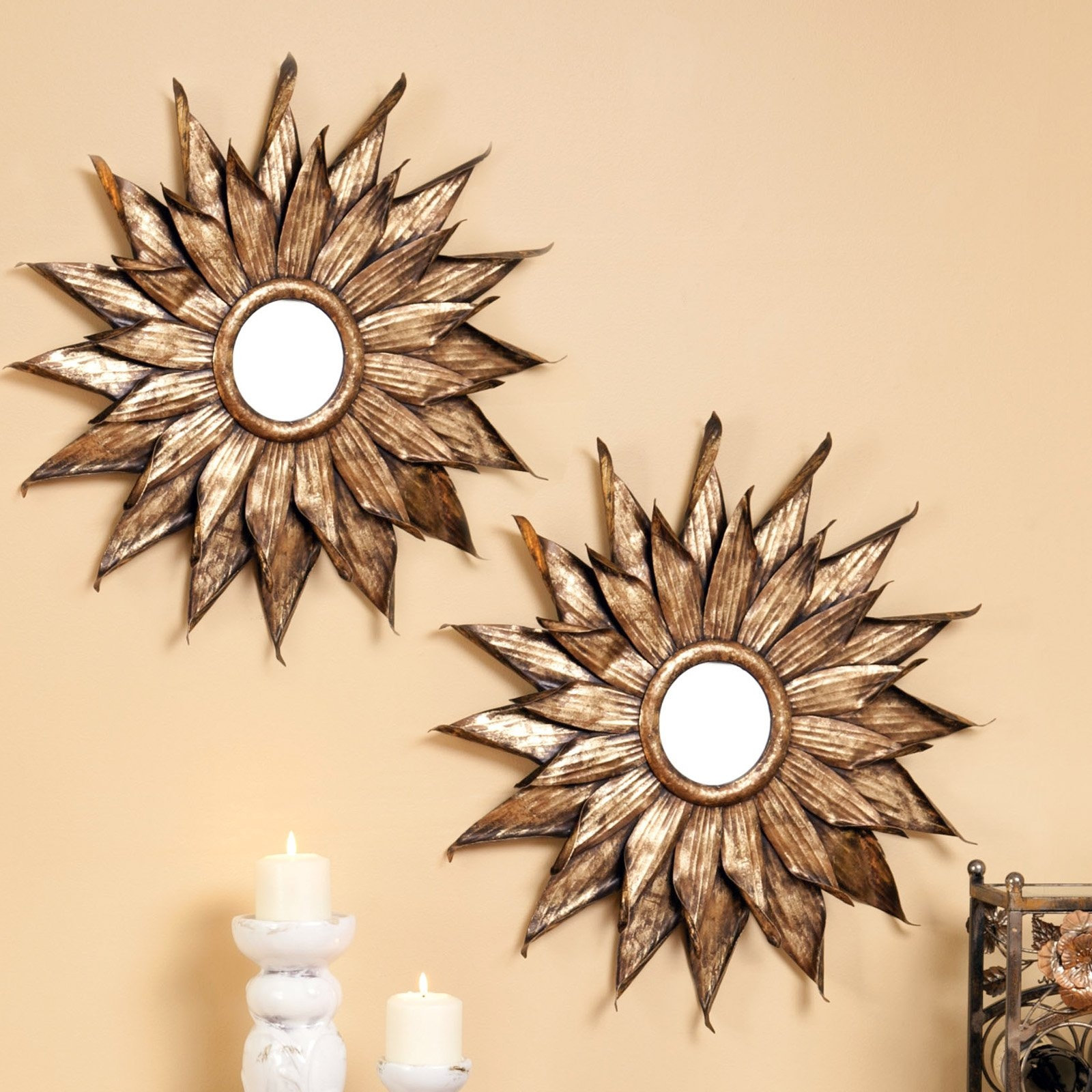 Have To Have It Evergreen Enterprises Metal Sunflower Wall Mirror Inside Sun Mirrors For Sale (Image 5 of 15)