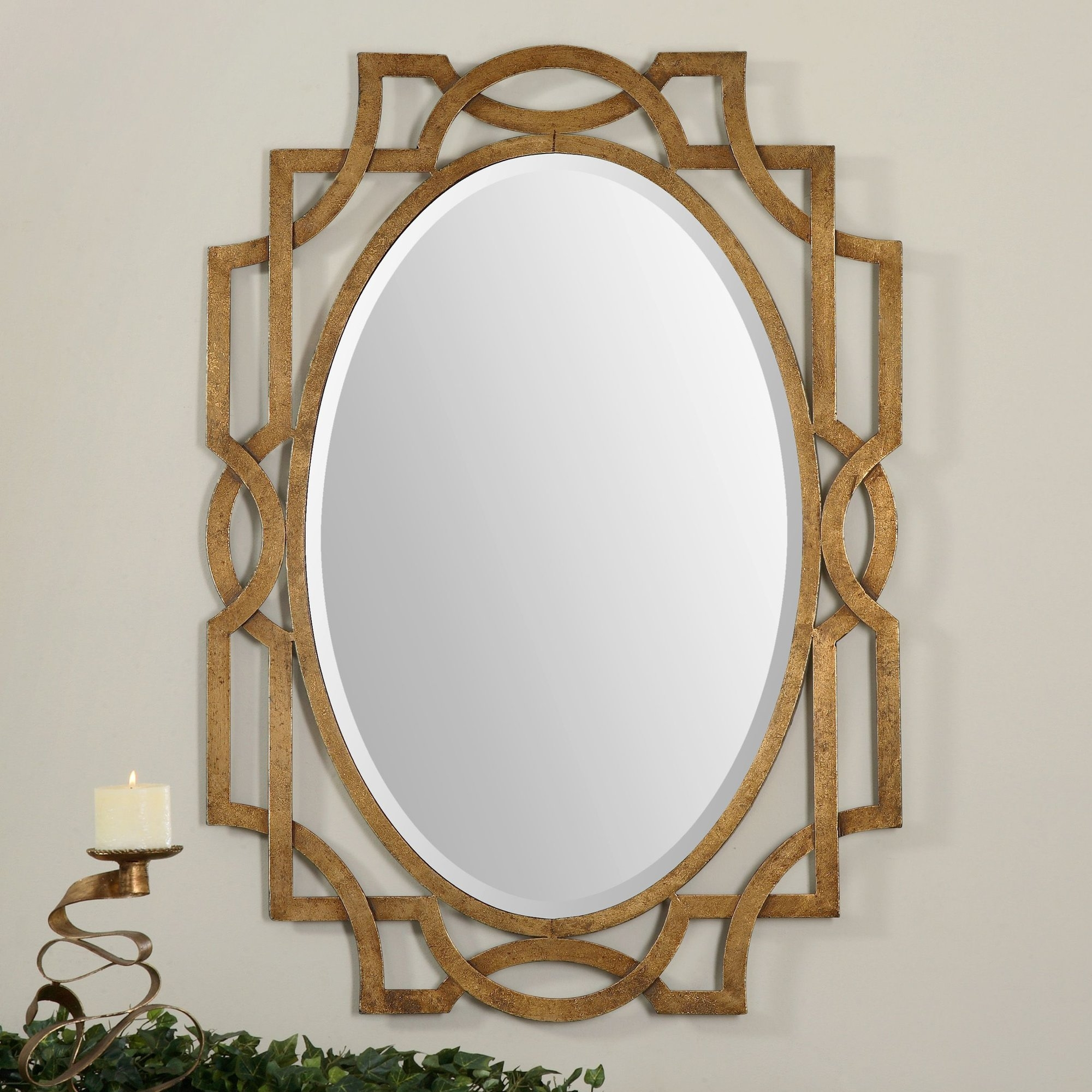 Hawn Gold Oval Wall Mirror Reviews Allmodern Within Oval Wall Mirrors (Image 5 of 15)