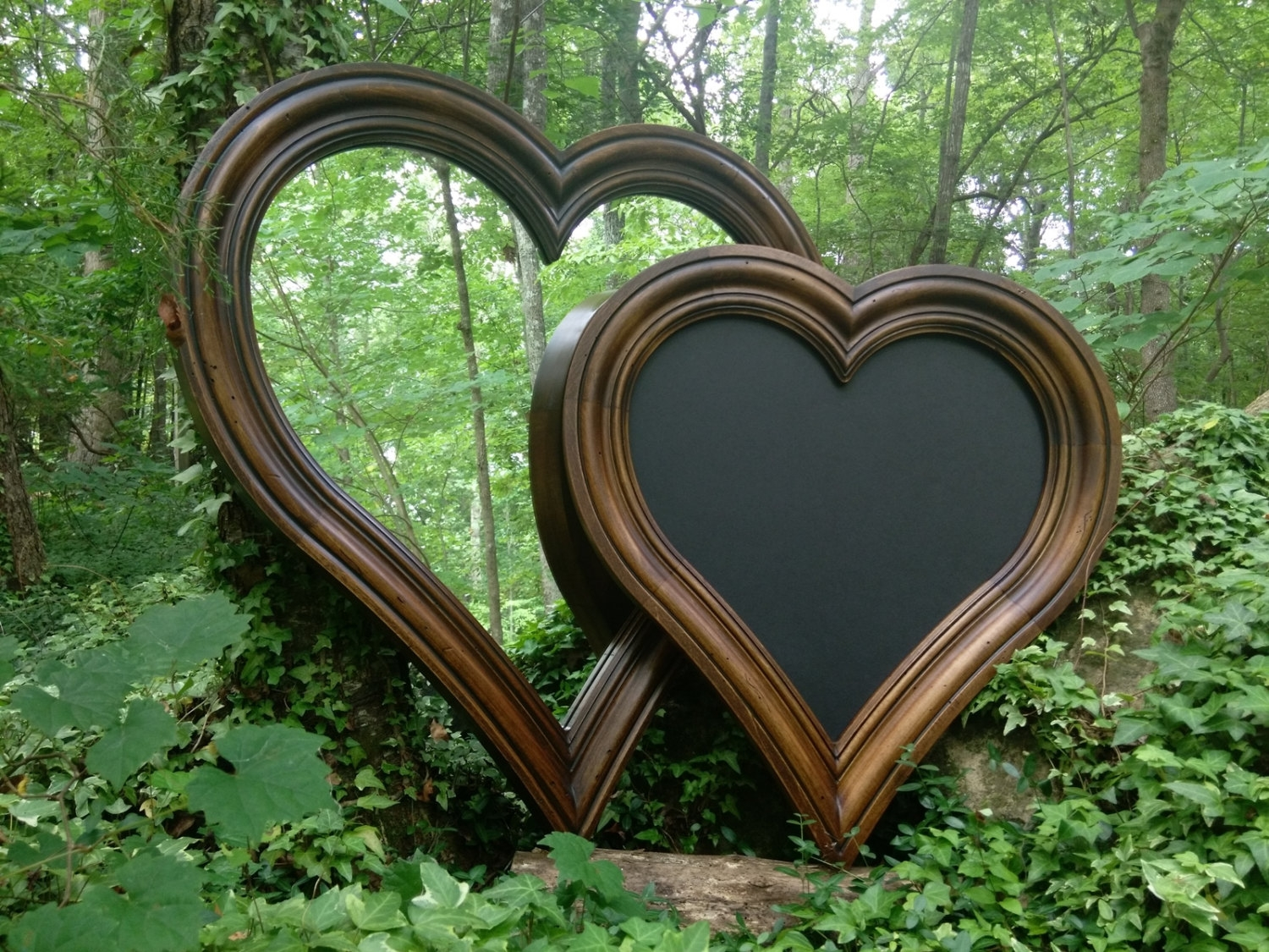 Heart Shaped Mirror Etsy Inside Large Heart Mirror (Image 4 of 15)