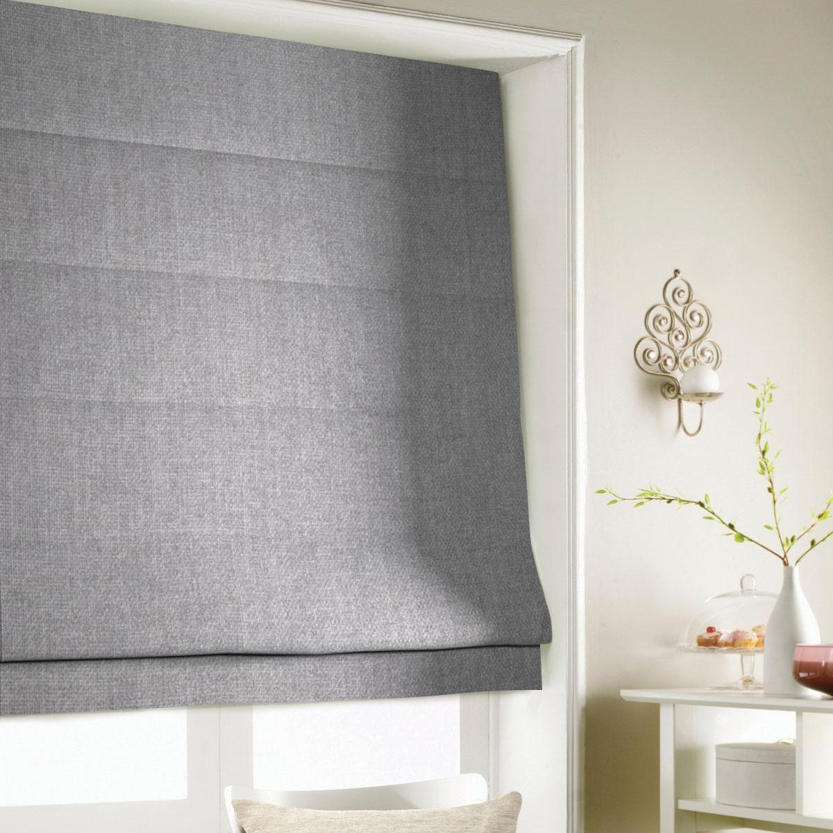 Heavy Weave Roman Blind Roman Blinds Pinterest Grey Search Pertaining To Roman Fabric Blinds (Image 4 of 15)