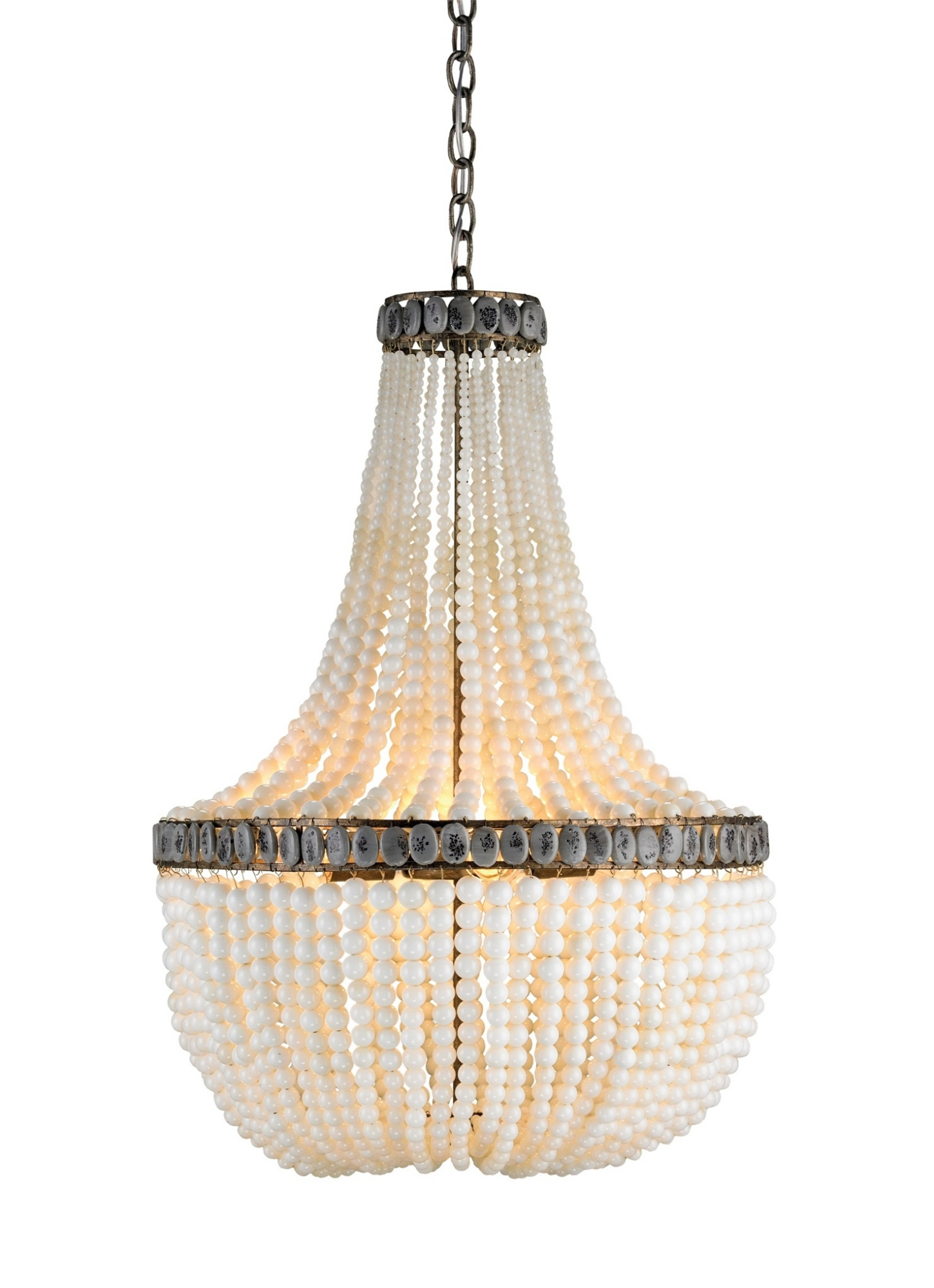 Hedy Chandelier Lighting Cream Currey And Company Regarding Large Cream Chandelier (Image 10 of 15)
