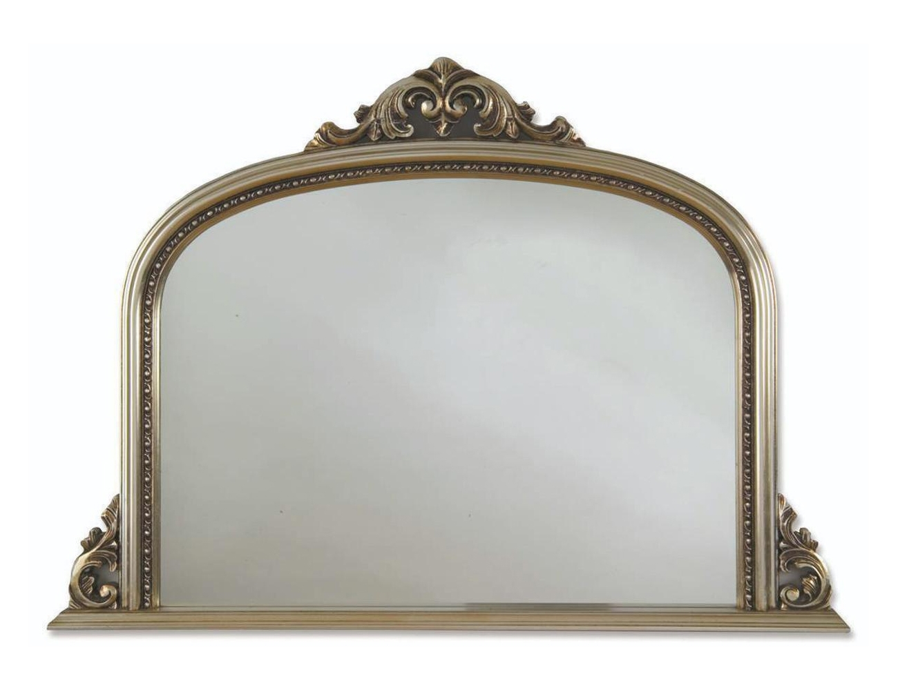 Heritage Archway Champagne Silver Wooden Frame Mirror 1270 X 910mm Intended For Champagne Silver Mirror (View 5 of 15)