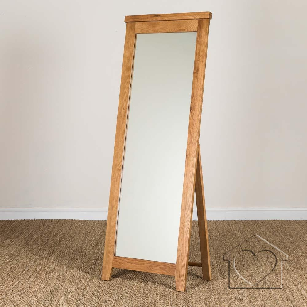 Heritage Rustic Oak Cheval Mirror 11900 A Fantastic Range Of Intended For Rustic Oak Mirror (Image 3 of 15)