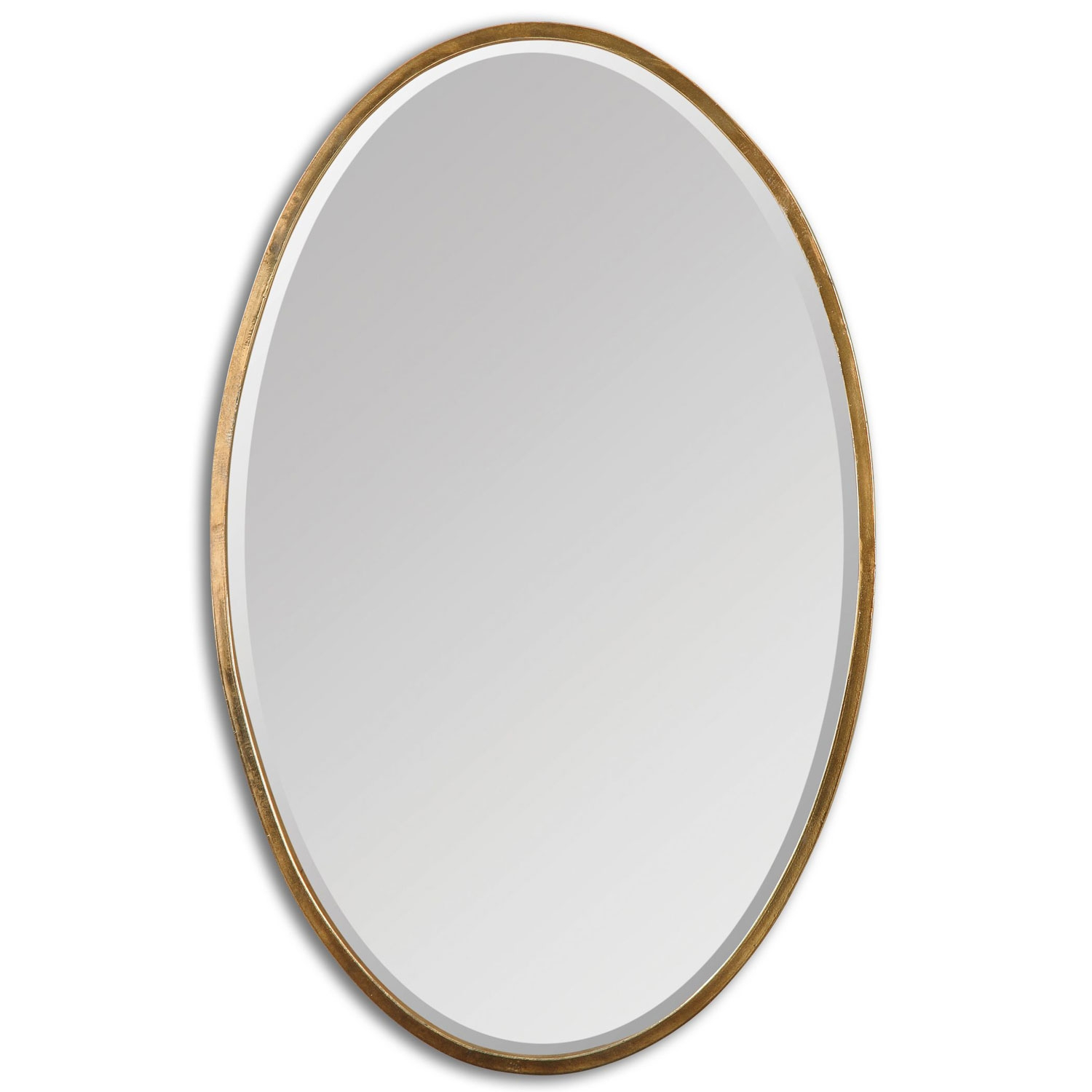 Herleva Oval Antique Gold Oval Mirror Uttermost Oval Mirrors Home Inside Oval Bevelled Mirror (View 15 of 15)